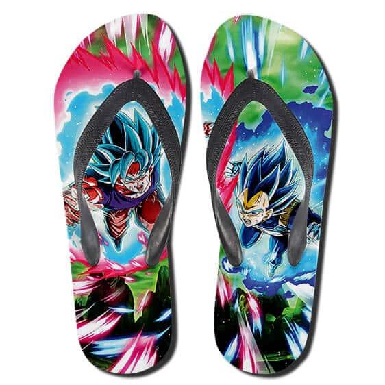 Dragon Ball SSGSS Son Goku And Vegeta Attack Flip Flops