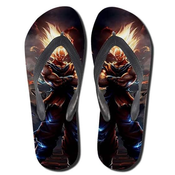 Dragon Ball Z Goku Majestic Artwork Flip Flop Sandals