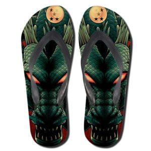 Dragon Ball Z Mighty Powerful Shenron Green Flip Flops