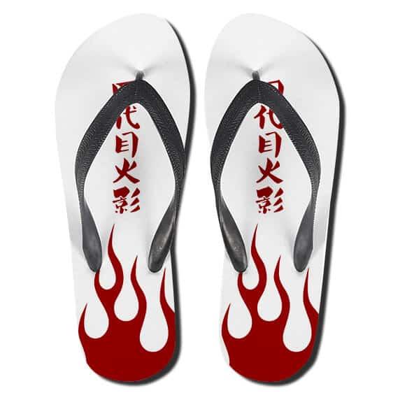 Fourth Hokage Minato Namikaze Coat Symbol Thong Sandals