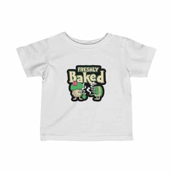 Freshly Baked Cake Cookie Marijuana Art Cool Baby Shirt