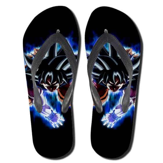 Goku Ultra Instinct Minimalist Black Flip Flop Slippers