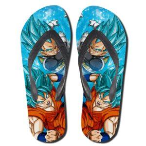 Goku and Vegeta Super Saiyan God Super Saiyan Flip Flops