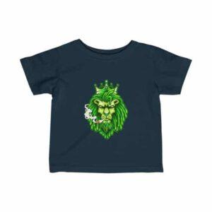 Green Ganja Lion Smoking Badass Weed Infant T-shirt