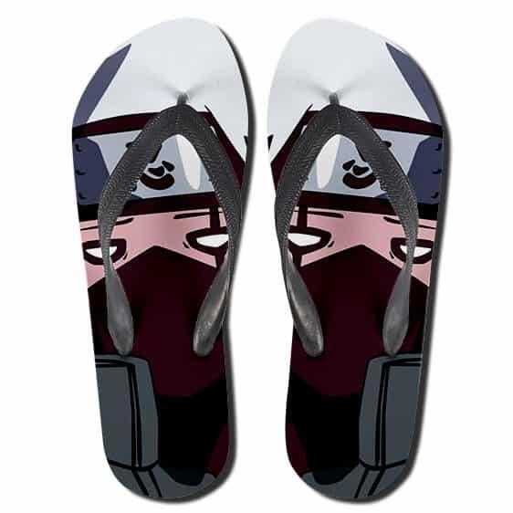 Hatake Kakashi Funny Derp Face Art Flip Flop Slippers