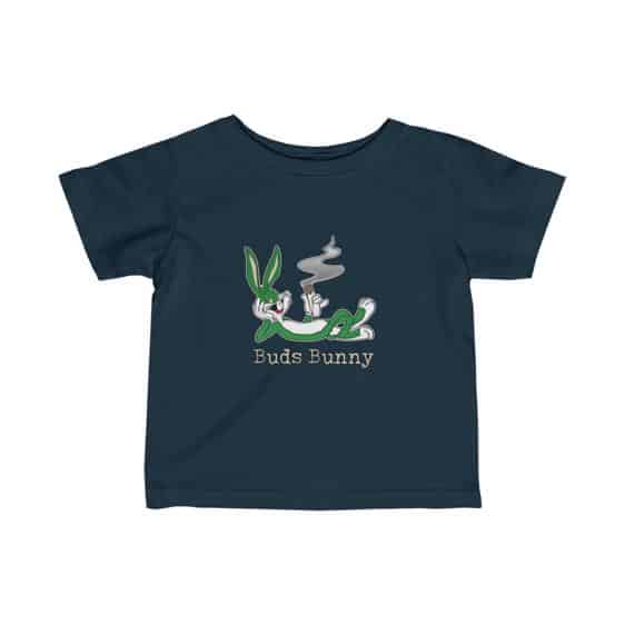 High Buds Bunny Enjoying Marijuana Blunt Dope Infant Shirt