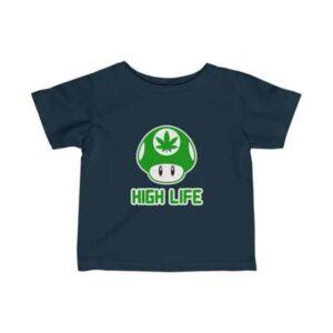 High Life Green Super Mario Mushroom Weed Baby T-shirt