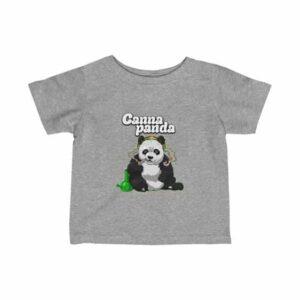 High Panda Smoking Cannabis Stylish Marijuana Newborn Shirt