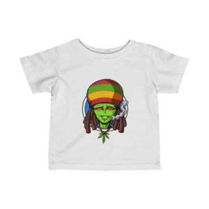 High Rasta Alien Smoking Weed Dope Newborn T-shirt