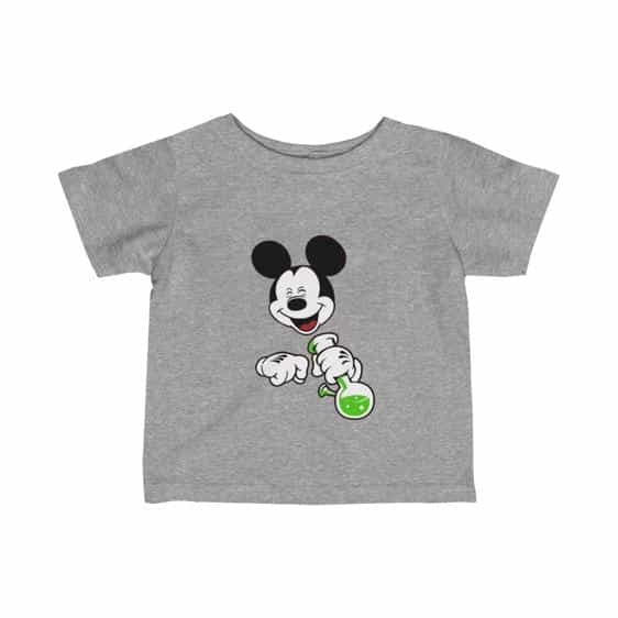 High Times Mickey Mouse Holding Bong 420 Baby T-Shirt