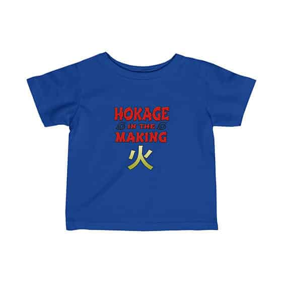Hokage In The Making Typography Art Cool Naruto Baby Tees