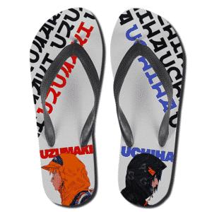 Hype Beast Naruto Uzumaki And Sasuke Uchiha Slippers