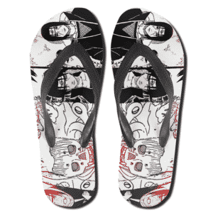Itachi Uchiha Manga Clip Art Collage Flip Flop Sandals