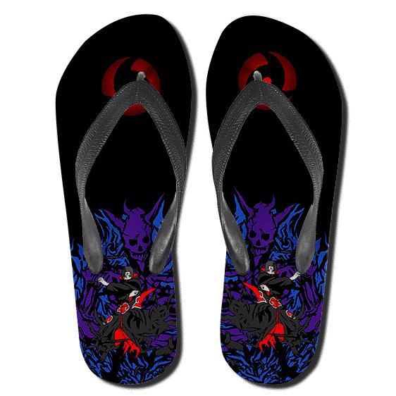 Itachi Uchiha's Susanoo Mangekyo Sharingan Black Slippers
