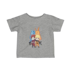 Jinchuriki Naruto and Gaara Artwork Cute Newborn T-Shirt