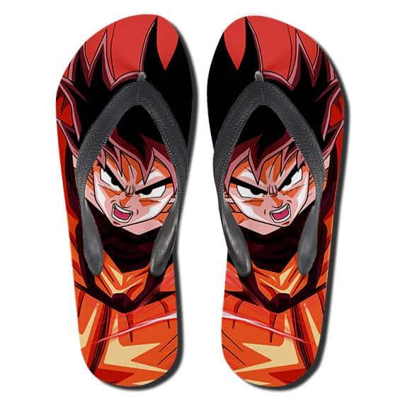 Kakarot Kaioken Emperor Fist Red Dope Flip Flop Sandals