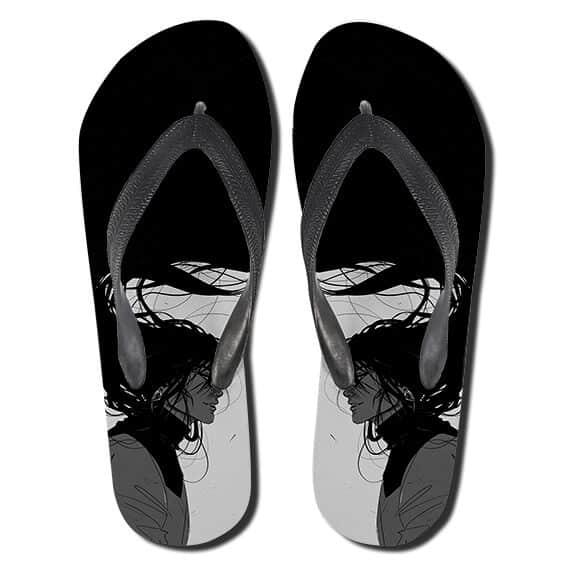 Legendary Ninja Orochimaru Monochrome Thong Sandals