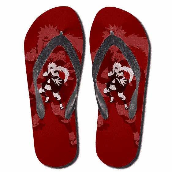 Legendary Sannin Powerful Shinobi Jiraiya Red Slippers