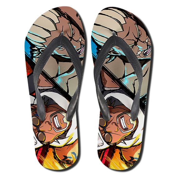 Lightning Ay and Bee Combo Attack Flip Flop Sandals
