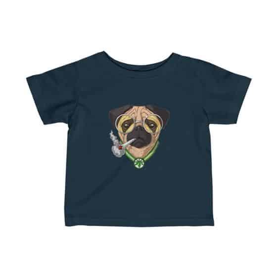 Lovely Pug Dog Smoking Weed Cute Marijuana Newborn Shirt