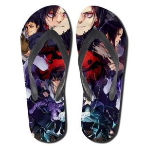 Madara Obito Itachi And Sasuke of Uchiha Clan Flip Flops