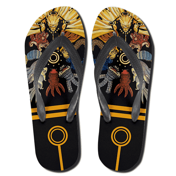 Naruto Sage of the Six Paths Tailed Beasts Flip Flops
