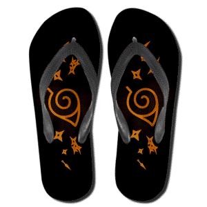 Naruto Shippuden Konohagakure Symbol Thong Sandals