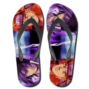 Naruto Uzumaki And Sasuke Uchiha Rivalry Thong Sandals