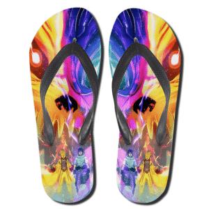 Naruto's Kyuubi And Sasuke's Susanoo Fusion Slippers