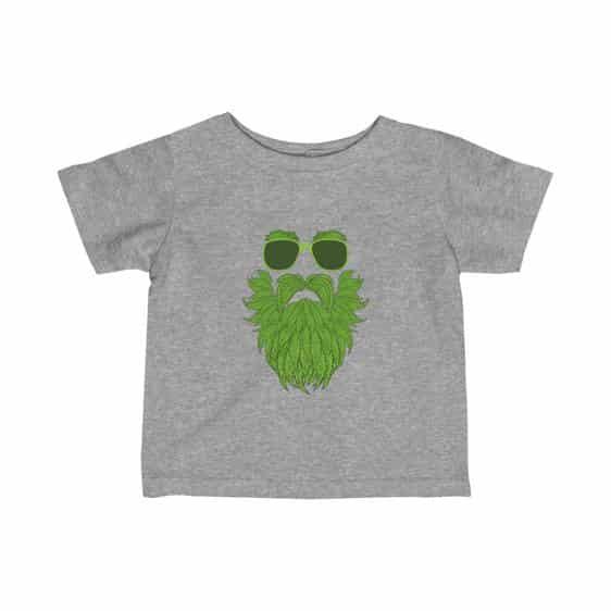 Old Bearded Stoner Man Marijuana Leaves Art Newborn Shirt