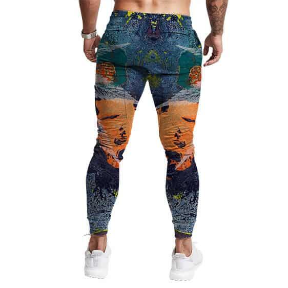 Pastel Weed Paint Artwork Stylish 420 Marijuana Jogger Pants