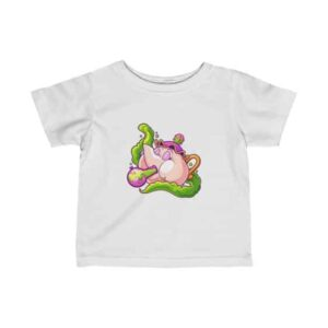 Pink Kettle Hitting Bong Trippy Marijuana Newborn T-shirt