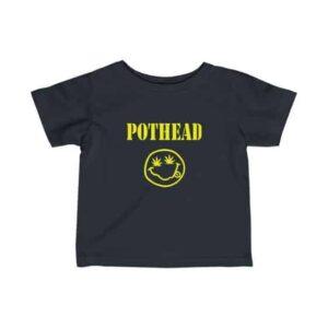 Pothead Smiley Face Nirvana Parody 420 Infant Tees