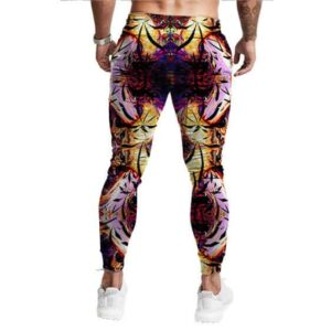 Psychedelic Jellyfish Weed Haze Print Epic 420 Jogger Pants