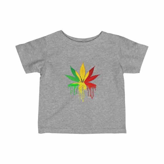 Rastafari Colored Marijuana Leaf Drip Dope Baby T-shirt