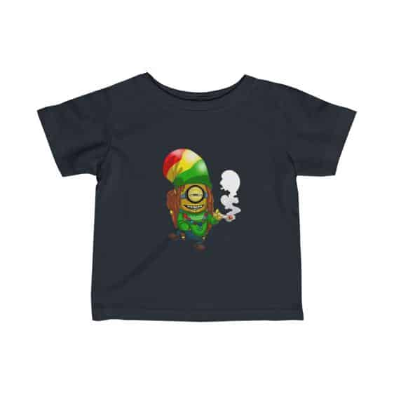 Rastaman Minion Smoking Cannabis Dope 420 Infant T-shirt