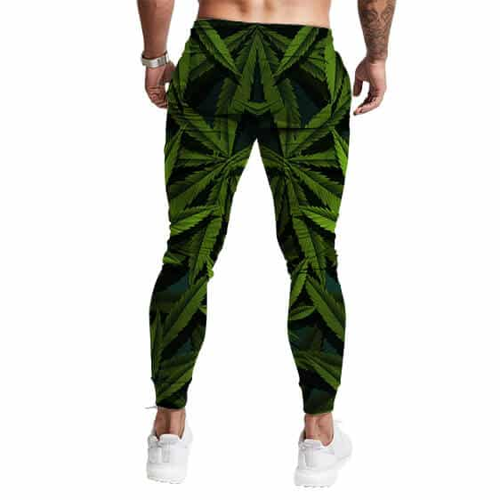 Realistic Weed Leaves Overall Pattern 420 Jogger Pants