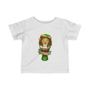Reggae Lion and Bongo Drum Ganja 420 Newborn T-shirt