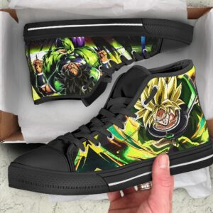 The Legendary Super Saiyan Broly Awesome Black Converse Sneakers