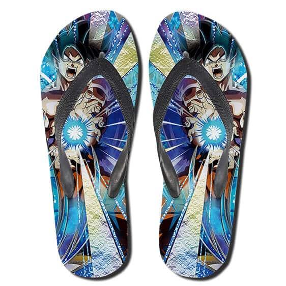 Son Goku Kamehameha Energy Wave Dokkan Art Thong Sandals