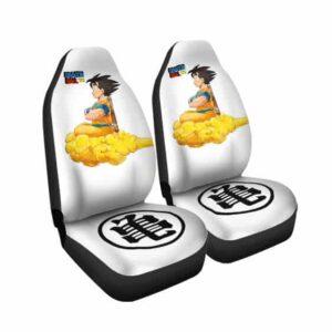 Son Goku Riding Kintoun Cloud Awesome DBZ Car Seat Cover