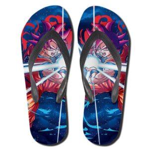 Son Goku Super Saiyan God Red Kamehameha Flip Flop Sandals