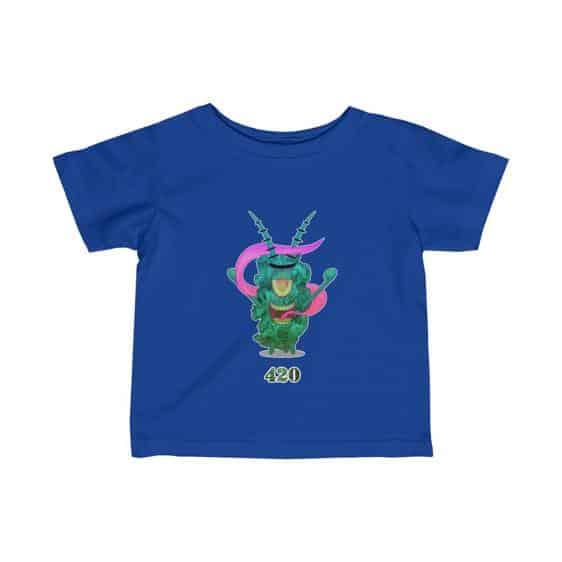 Stoned Plankton Covered In Marijuana Kush Baby Shirt