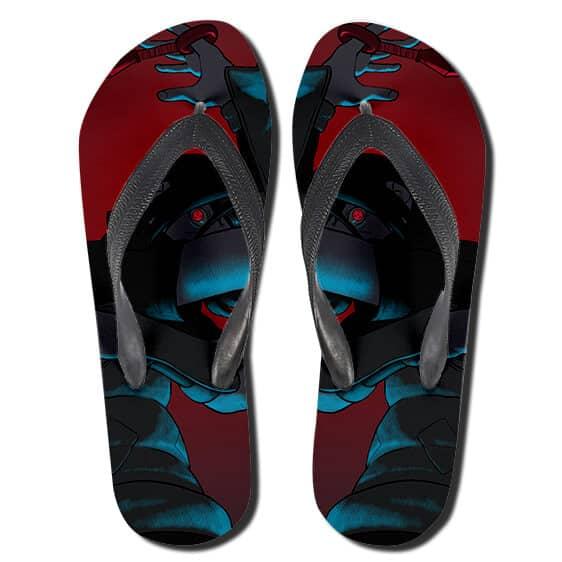 Teen Itachi Uchiha Sharingan Red Flip Flop Slippers