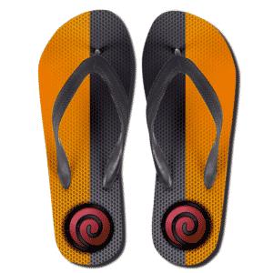 Teen Naruto Color Uzumaki Clan Symbol Flip Flops Sandals