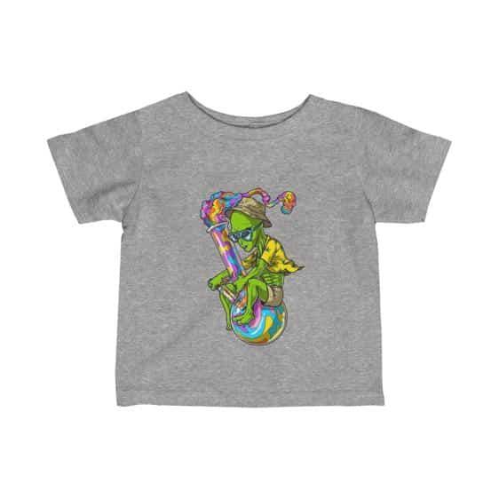 Trippy Alien Stoner Riding Bong Cool Infant T-shirt