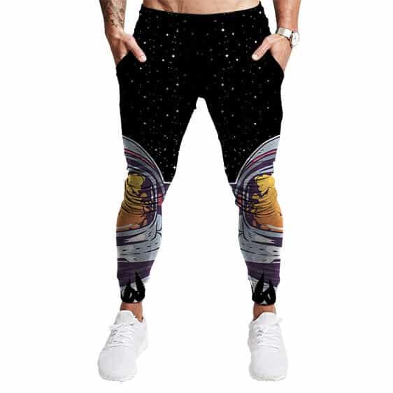 Trippy Astronaut Galaxy Themed 420 Marijuana Jogger Pants