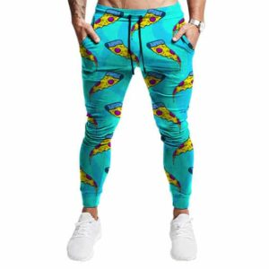 Trippy Pizza Weed Toppings Pattern Cool Marijuana Joggers
