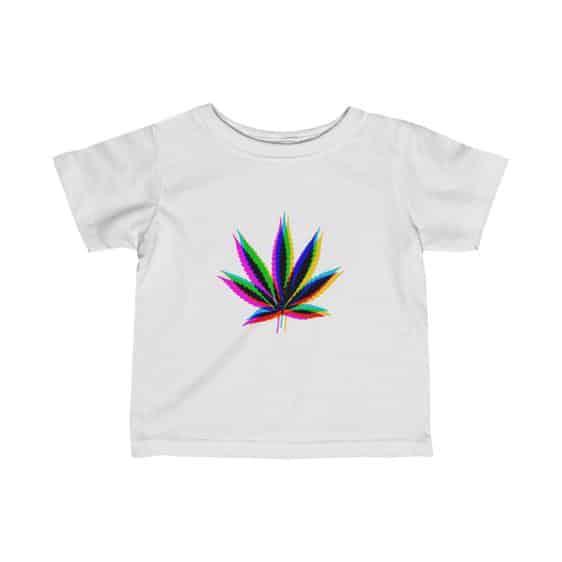 Trippy Sativa Marijuana Leaf Amazing Newborn T-shirt