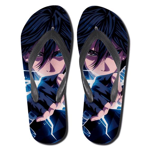 Uchiha Sasuke Epic Lightning Blade Flip Flop Sandals